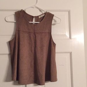 Suede sleeveless top